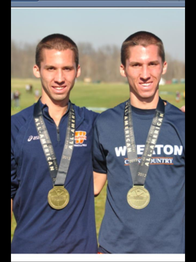 Jake and James after the 2012 NCAA D3 Cross Country Meet