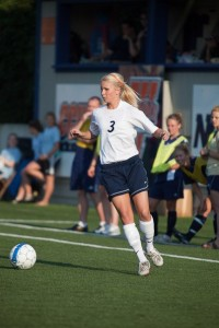 Shelby played defense during her time with the Wheaton Thunder women's soccer team.