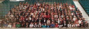 The attendees of the first MFA Gathering, 1998, Edinburgh, Scotland.