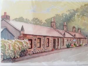 The Merrilees Cottages, outside Edinburgh.