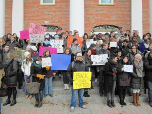 Mariah May participated in a demonstration for racial justice on her college campus.