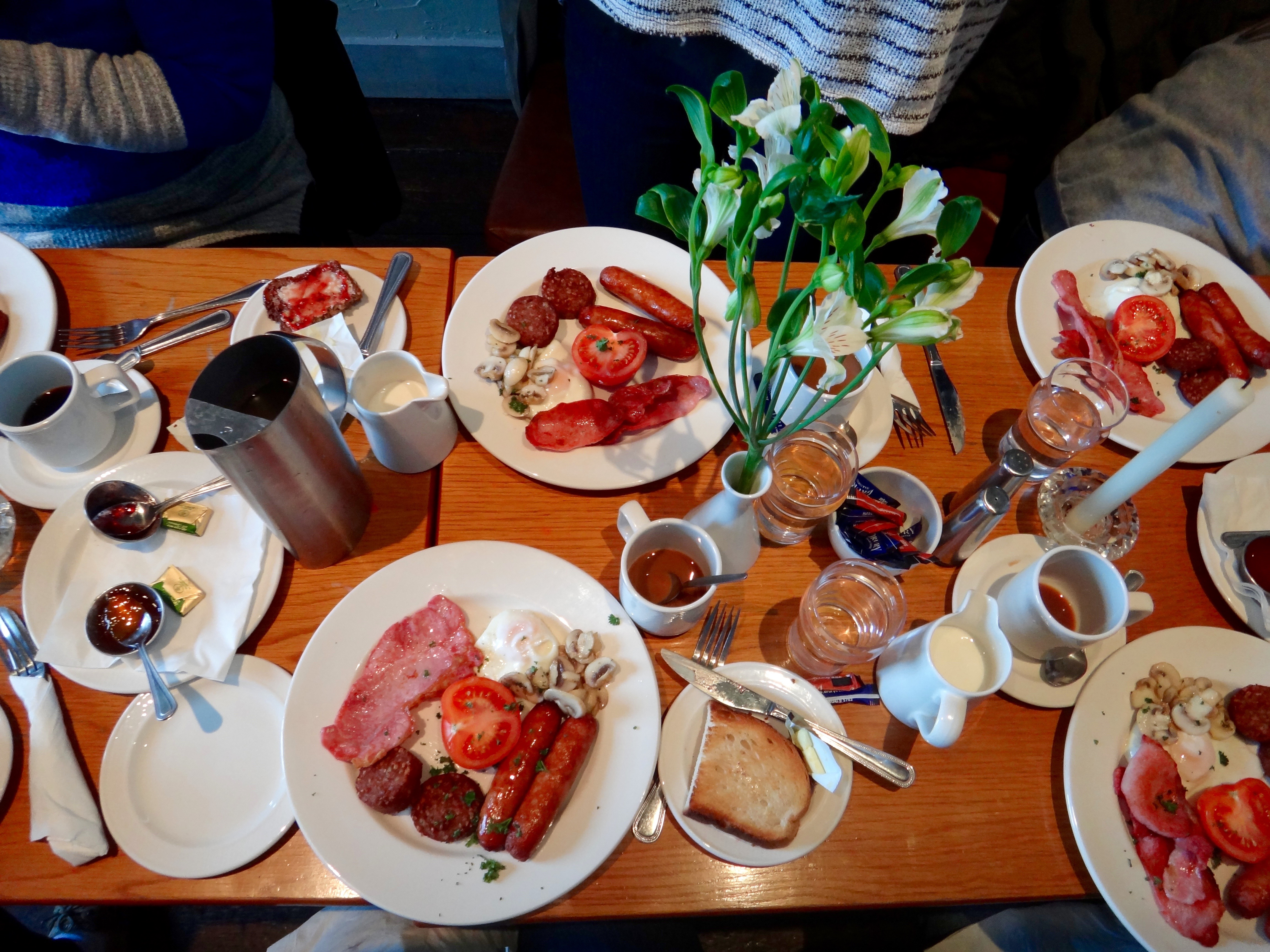 My group and I tried the Full Traditional Irish Breakfast during our stay in at The Moorings in Dungarvan. (Photo credit: Olivia McCash)
