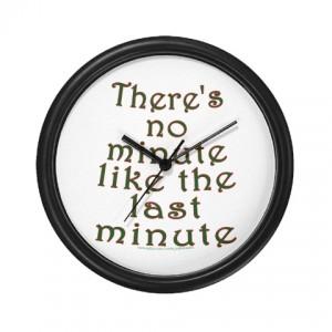 Last-Minute Clock