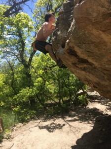 Zach Johnston climbing