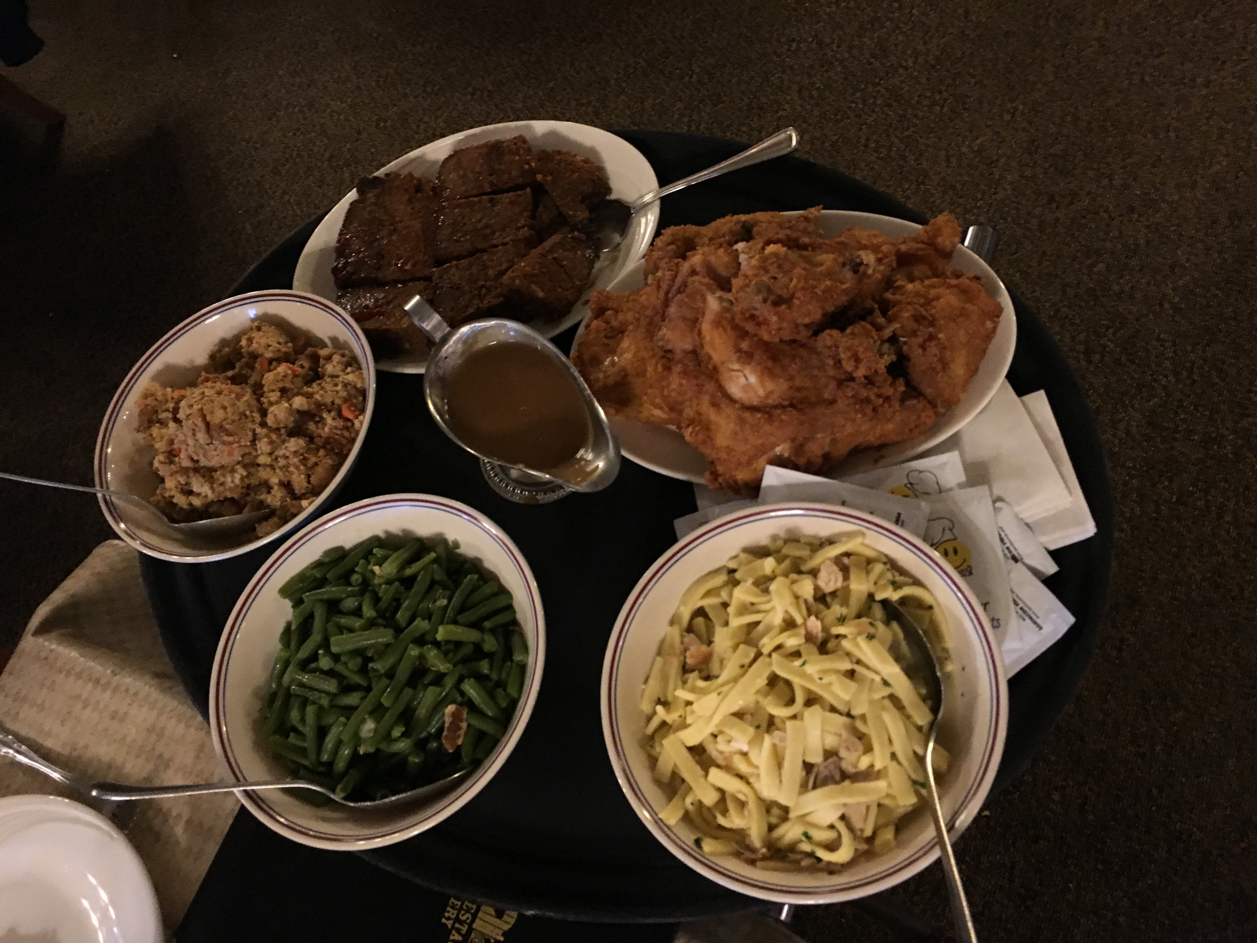 Some of the food served by the Blue Gate Theater after the musical (photo credit Anders Rotto).