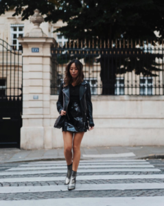 leather jacket and boot trend