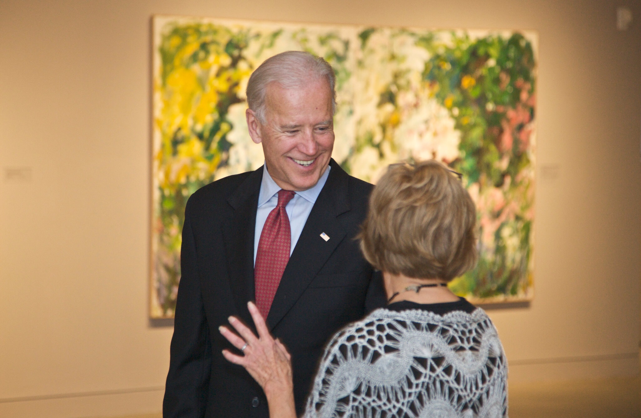 Joe Biden as an art aficionado